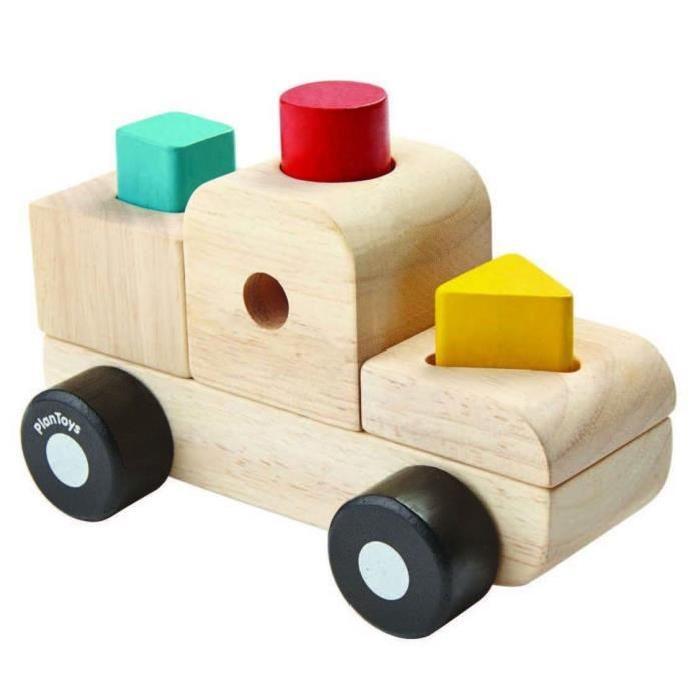 PLAN TOYS Jeu en bois Mon premier camion de construction