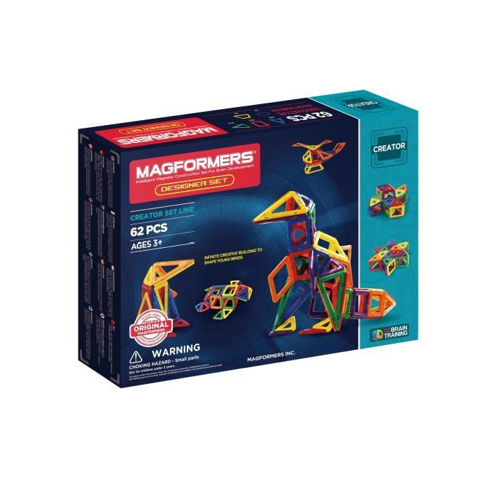 MAGFORMERS DESIGNER SET Jeux de construction 62 pieces
