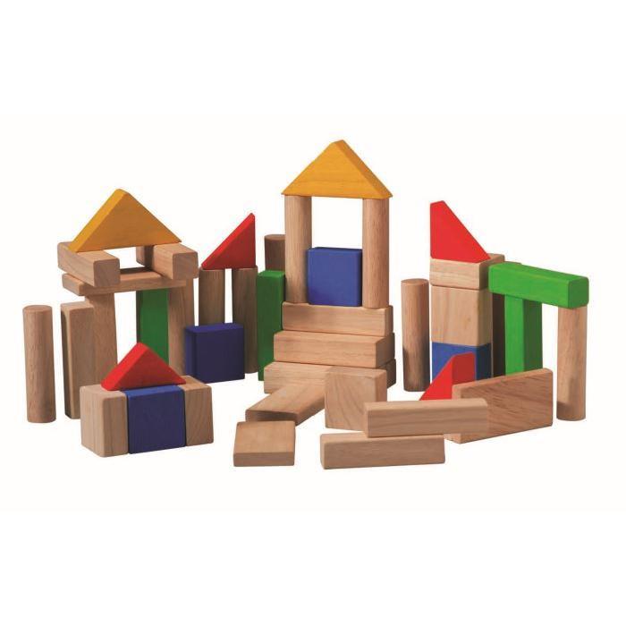 PLAN TOYS Jeu en bois Jeu de Construction 50 pieces