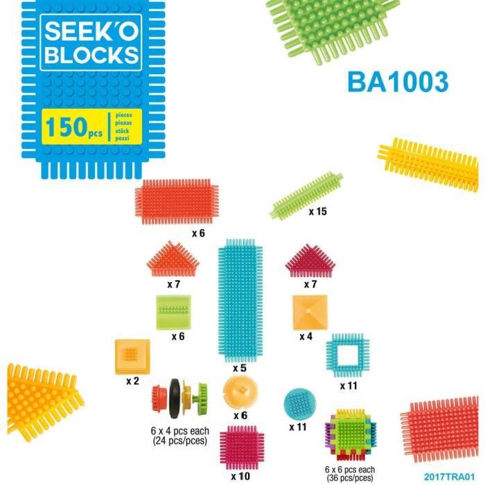 SEEK'O BLOCKS Jeu de construction - Sac 150 Pieces