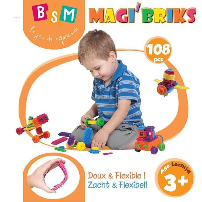 BSM Magic Brix - 108 Pieces avec Fiches Modele