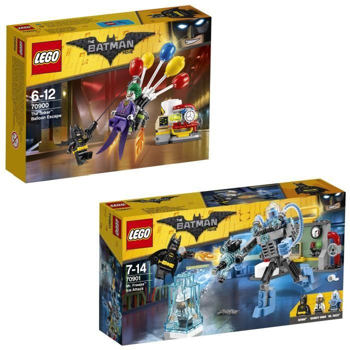Pack LEGO Batman Movie - Joker et Mr Freeze (4 figurines)