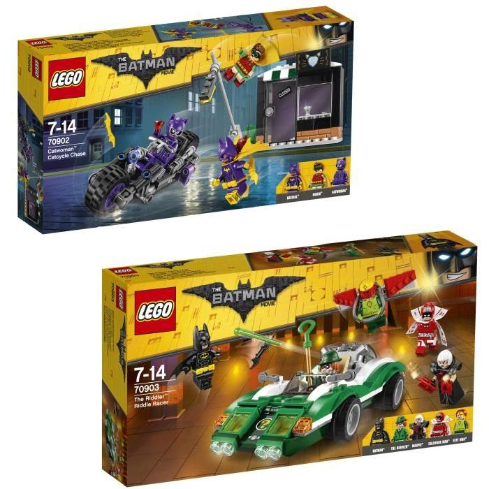 Pack LEGO Batman Movie - Catwoman et l'Homme mystere (8 figurines)