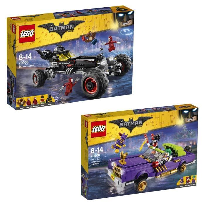 Pack LEGO Batman Movie - Batmobile et  Décapotable du Joker (8 figurines)