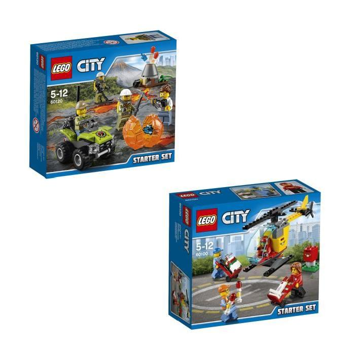 LEGO City - Bundle Starter Pack 8 figurines (60100 + 60120)