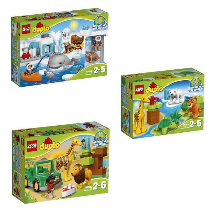 LEGO DUPLO - Bundle A la Découverte des Animaux (10801 + 10802 + 10803)