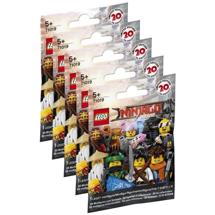 LEGO Minifigures Ninjago Movie 71019 - Lot de 5 Sachets Ninjago