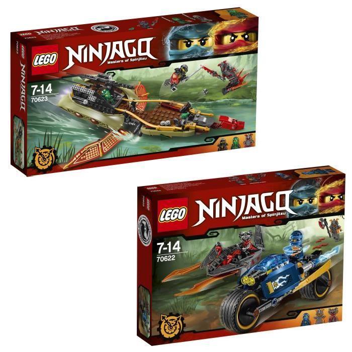 Pack LEGO Ninjago : L'Éclair du Désert (70622) + La Poursuite en Vol (70623) - 6 figurines