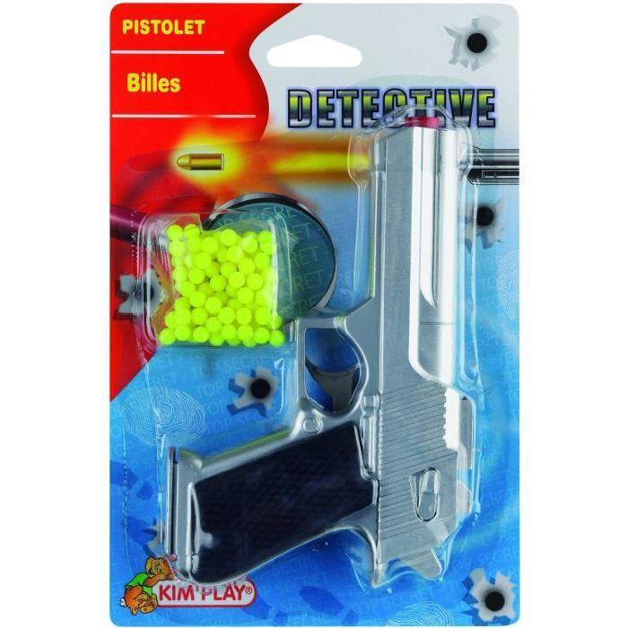KIMPLAY Pistolet a billes - Gris